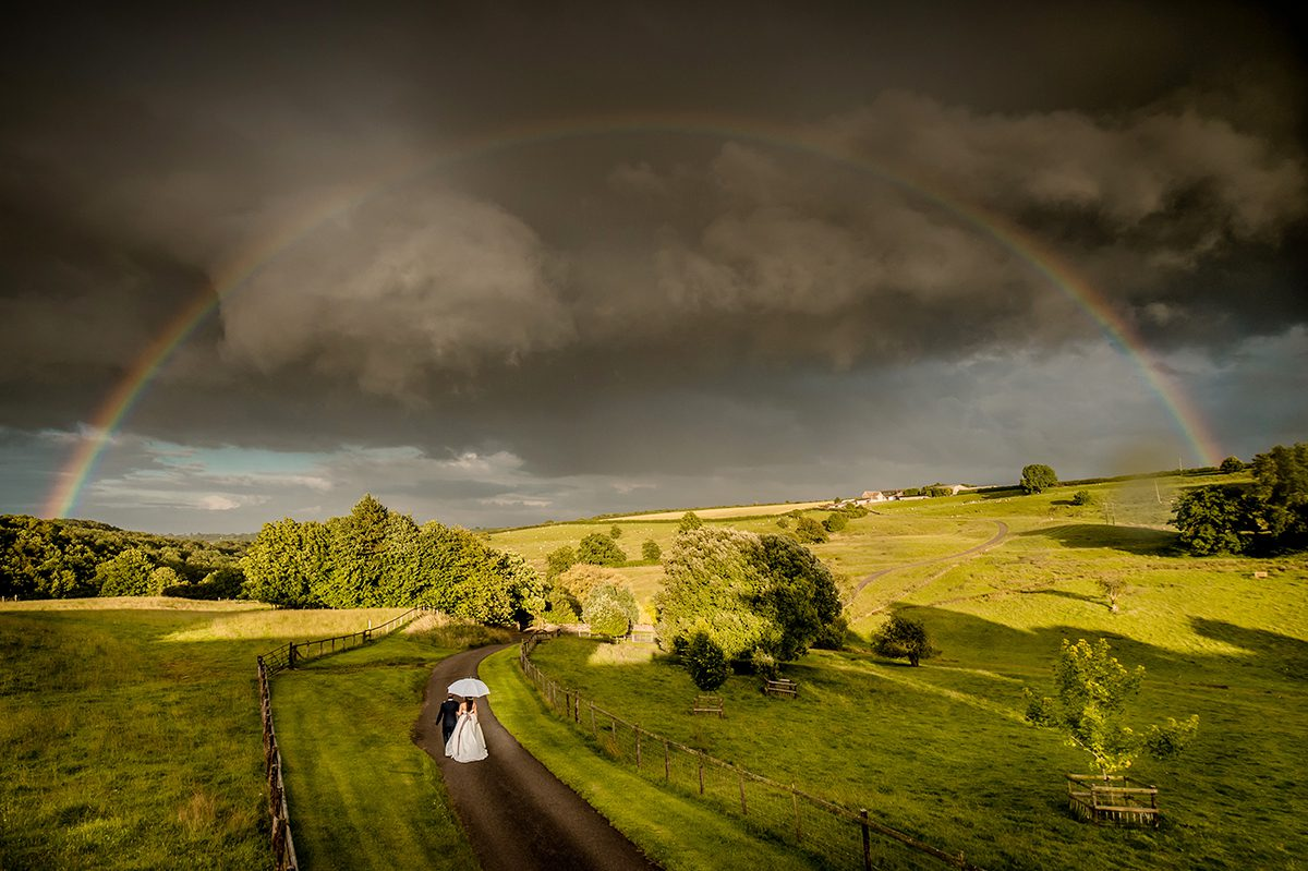 Stunning view at Kingscote Barn wedding venue in Gloucestershire