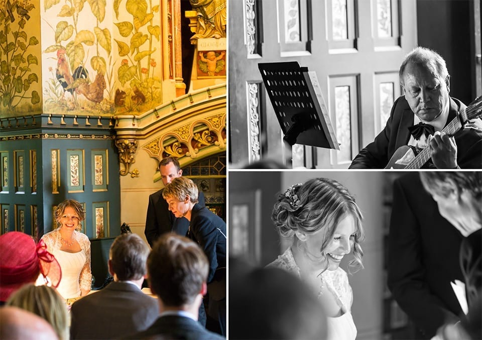 Signing the register, Castell Coch wedding photographer