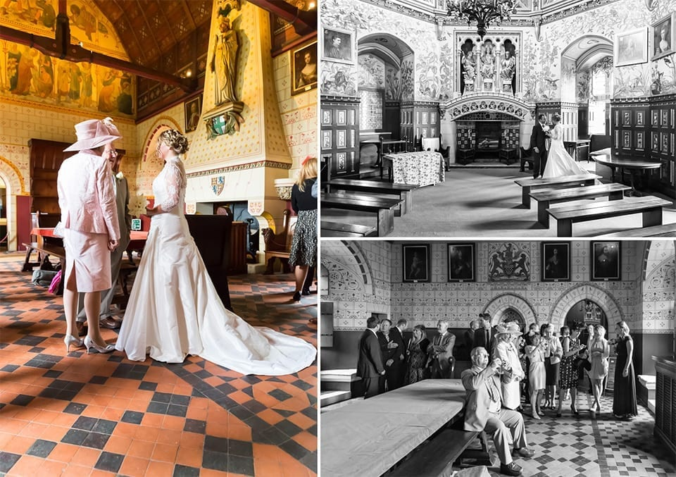 After the wedding ceremony, Castell Coch wedding photographer