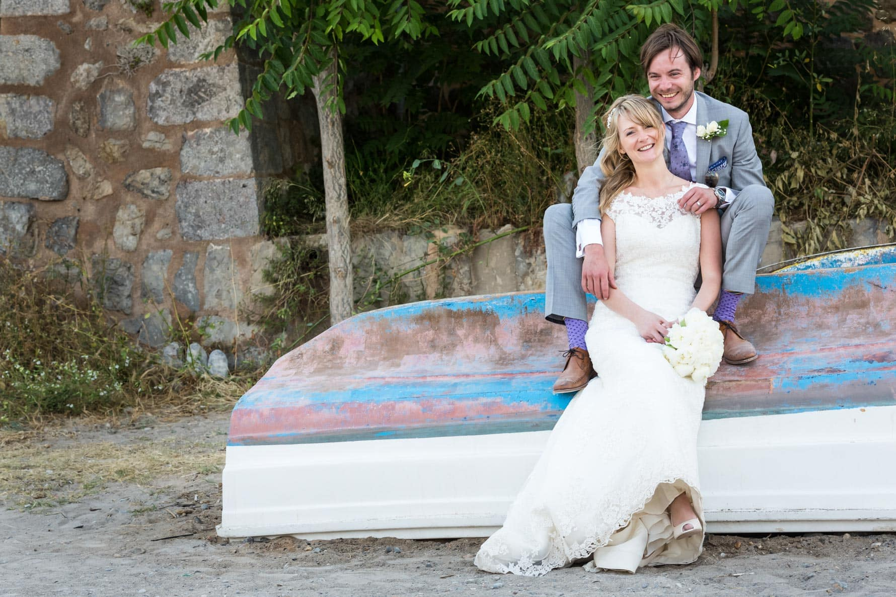 """on the boat"" by Mallorca wedding photographer in Port de Soller"