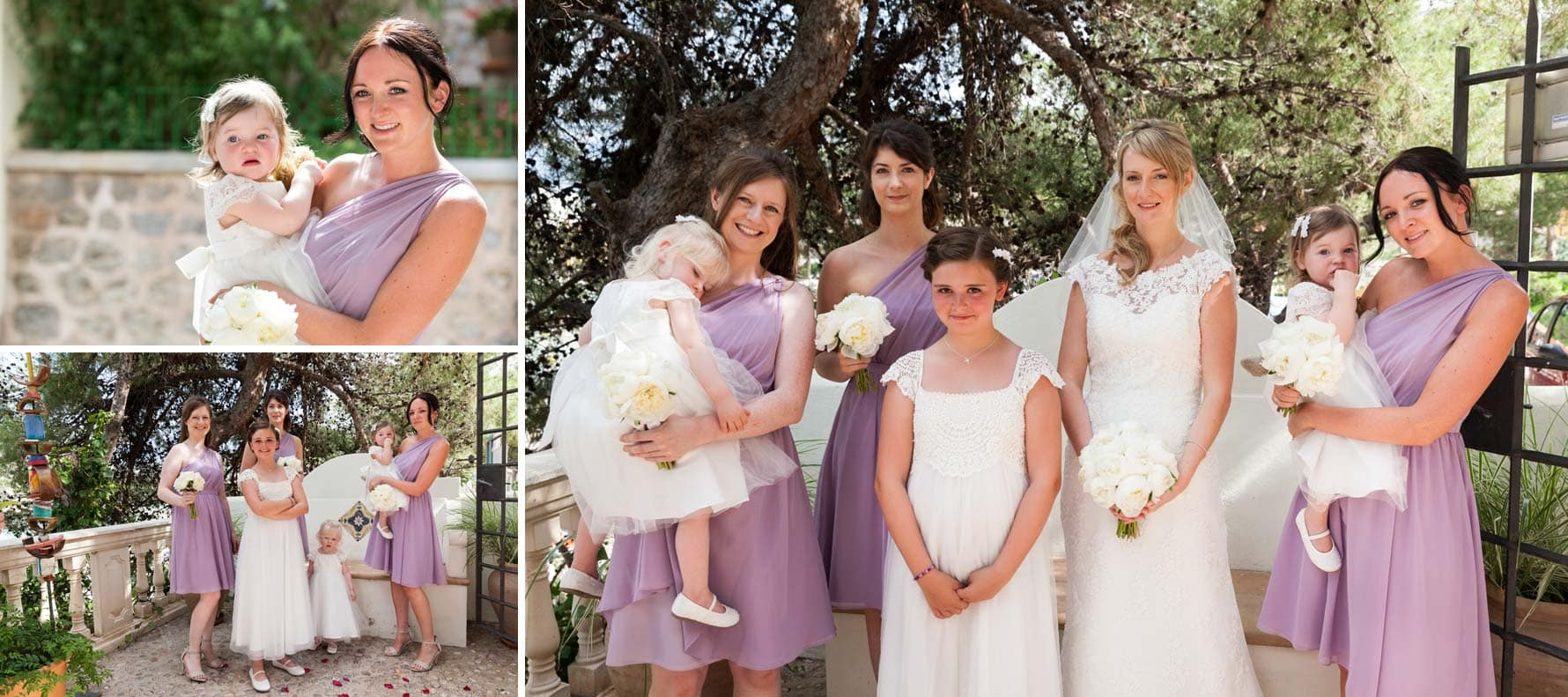 The bridesmaids by Mallorca wedding photographer in Port de Soller