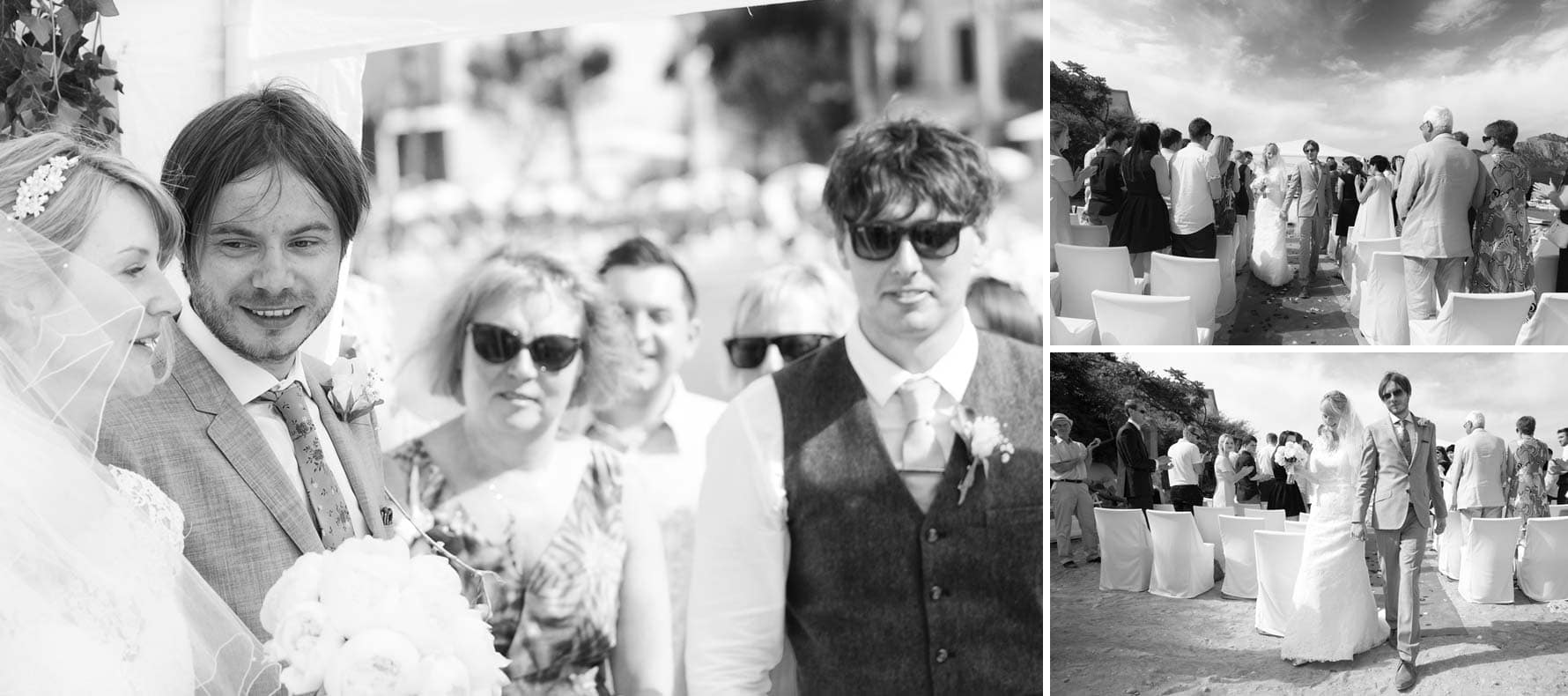 """Down the aisle"" by Mallorca wedding photographer in Port de Soller"