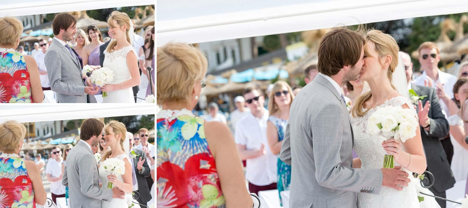 """Just married"" captured by Mallorca wedding photographer in Port de Soller"