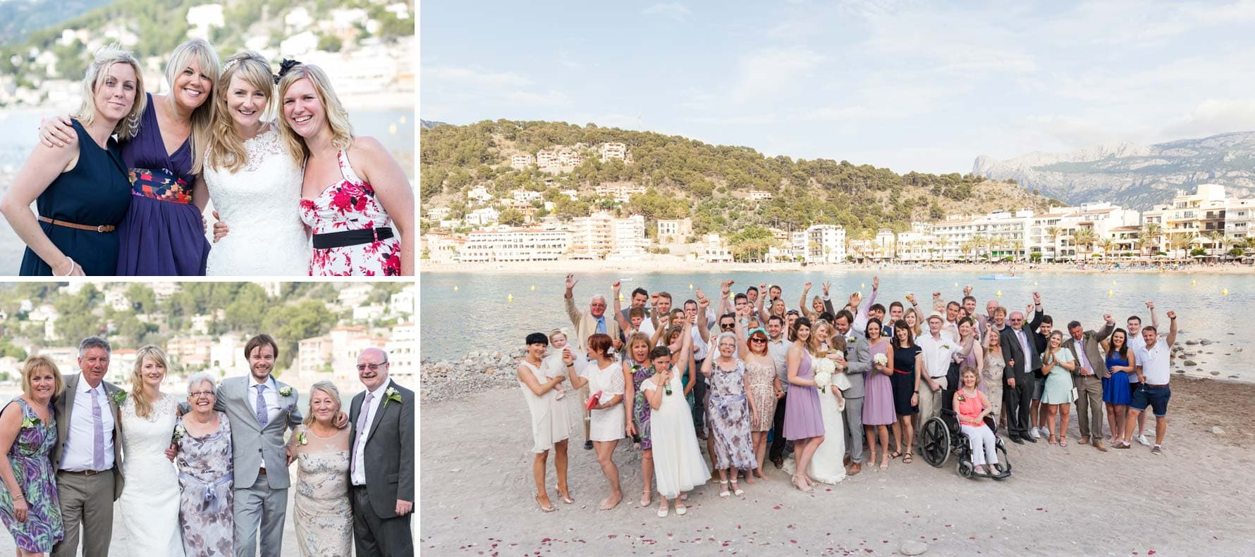 Group photos by Mallorca wedding photographer in Port de Soller