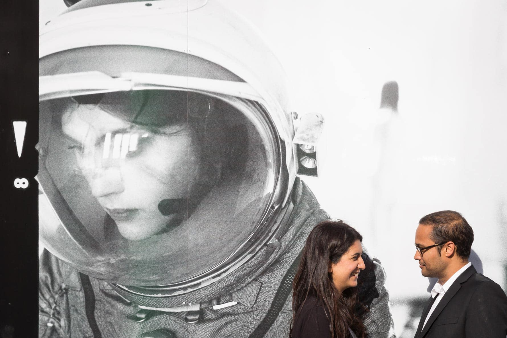 The spacewoman with Josh and Nandini