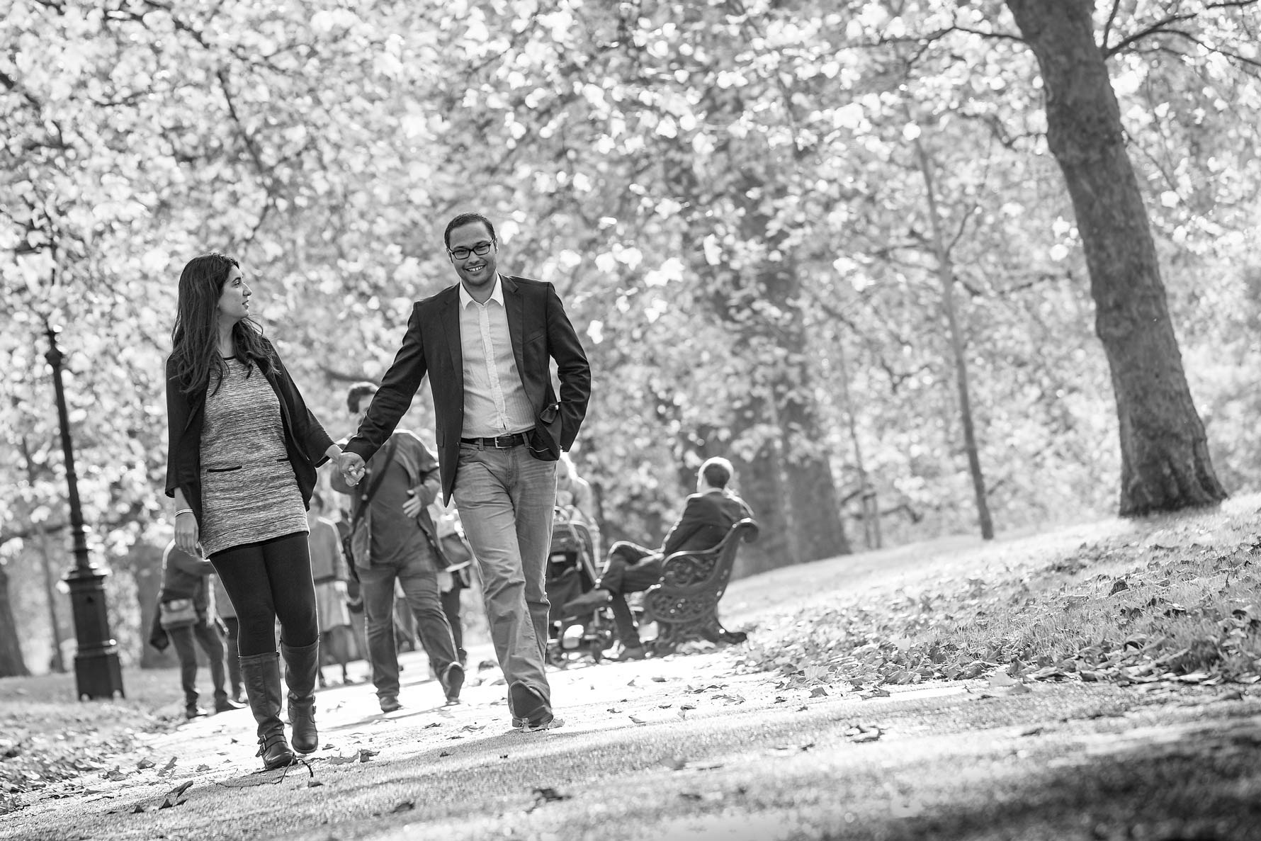 Engagement shoot in Green Park