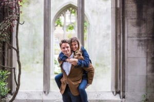 Fun London Engagement Photoshoot | Aldgate to the Beautiful Ruins of St Dunstan-in-the-East