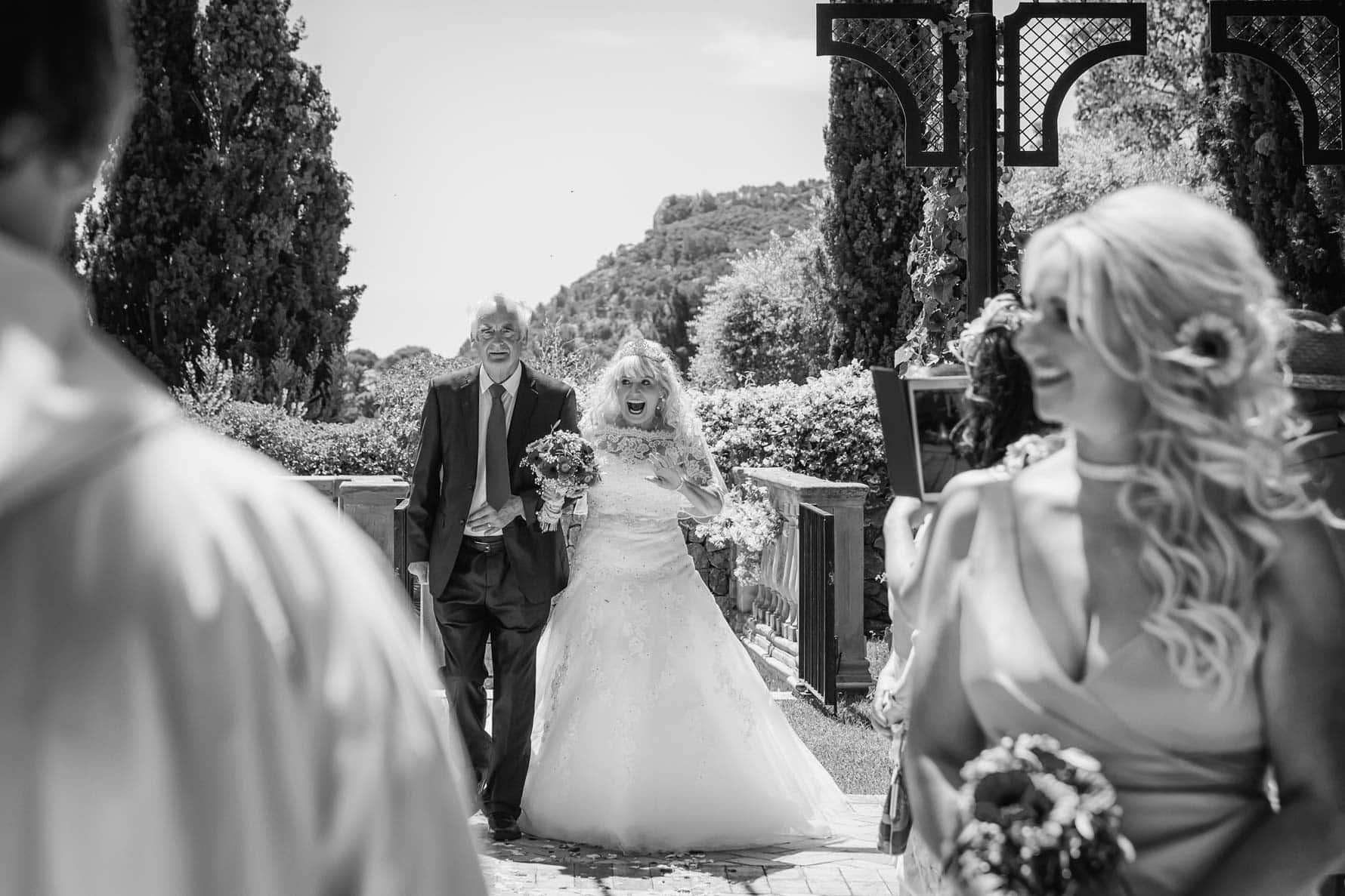 A radiant bride at her Mallorca wedding at the Valldemossa Hotel