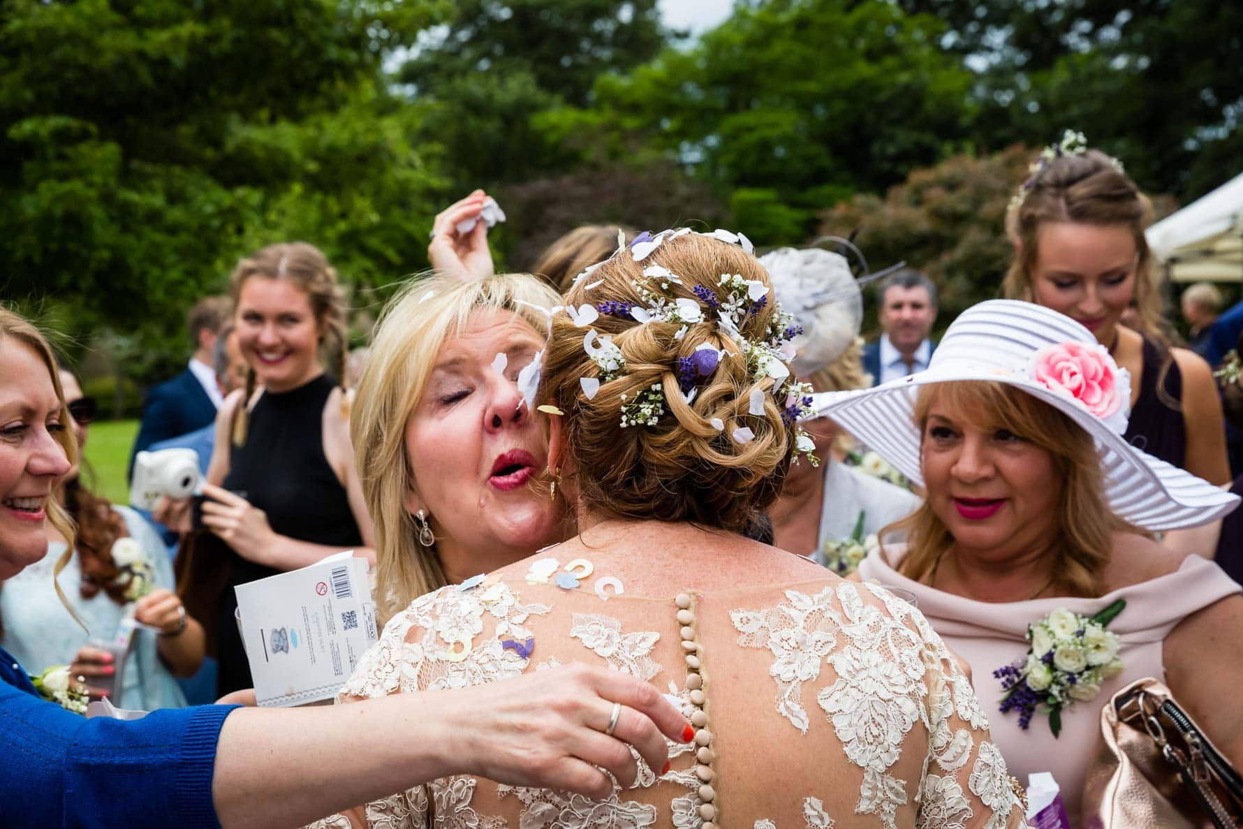 Congratulations from the bride's sister at Hanbury Manor wedding by Hertfordshire wedding photographer Graham Warrellow