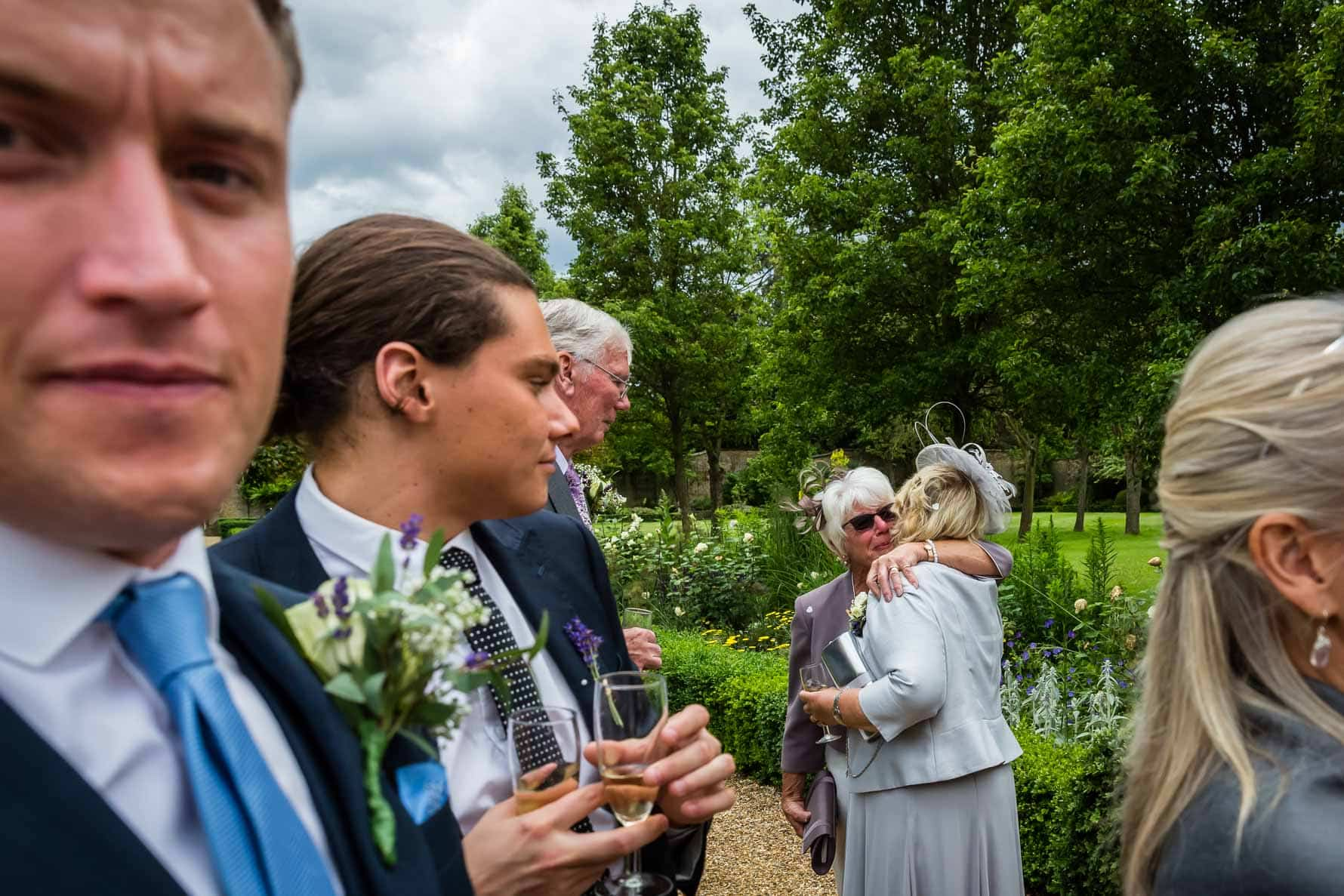 The mums sharing a special moment at Hanbury Manor by Hertfordshire wedding photographer Graham Warrellow