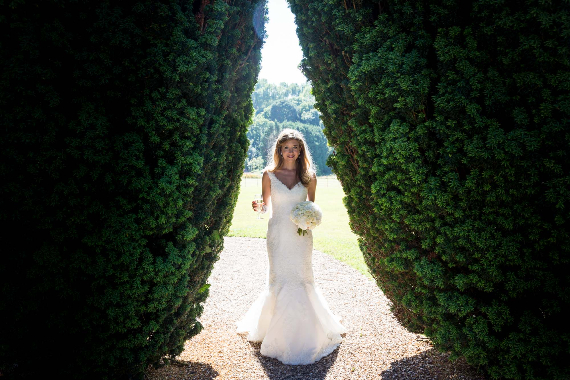 Wedding photography prices - bride at St audries Park