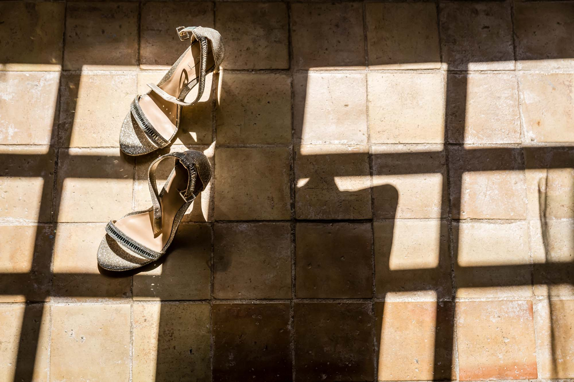 Cathy's shoes for her Mallorca wedding