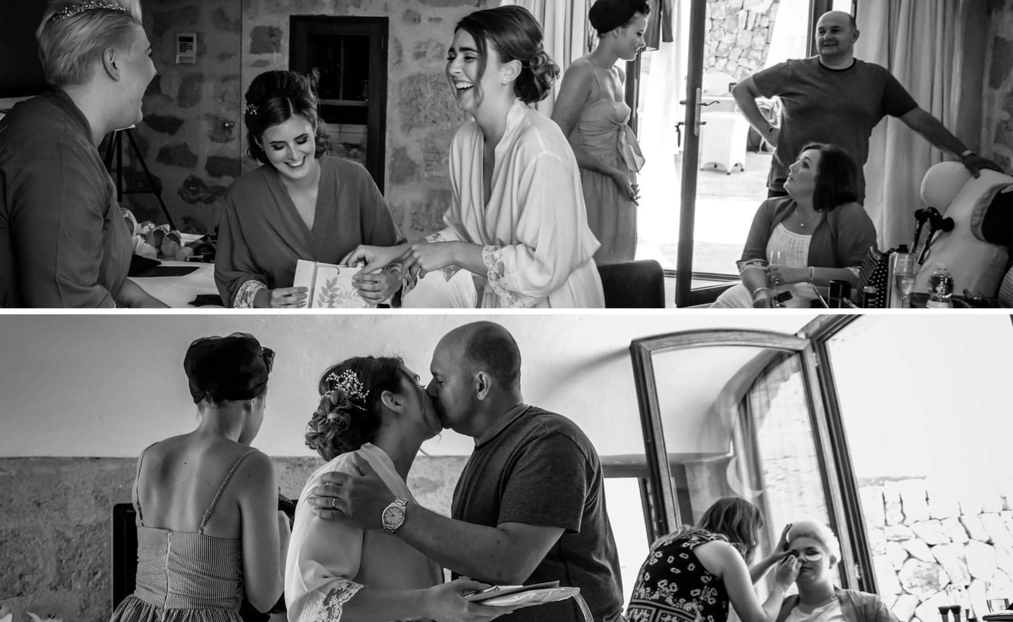 Some lovely moments during Hailey's bridal preparations at her Mallorca wedding