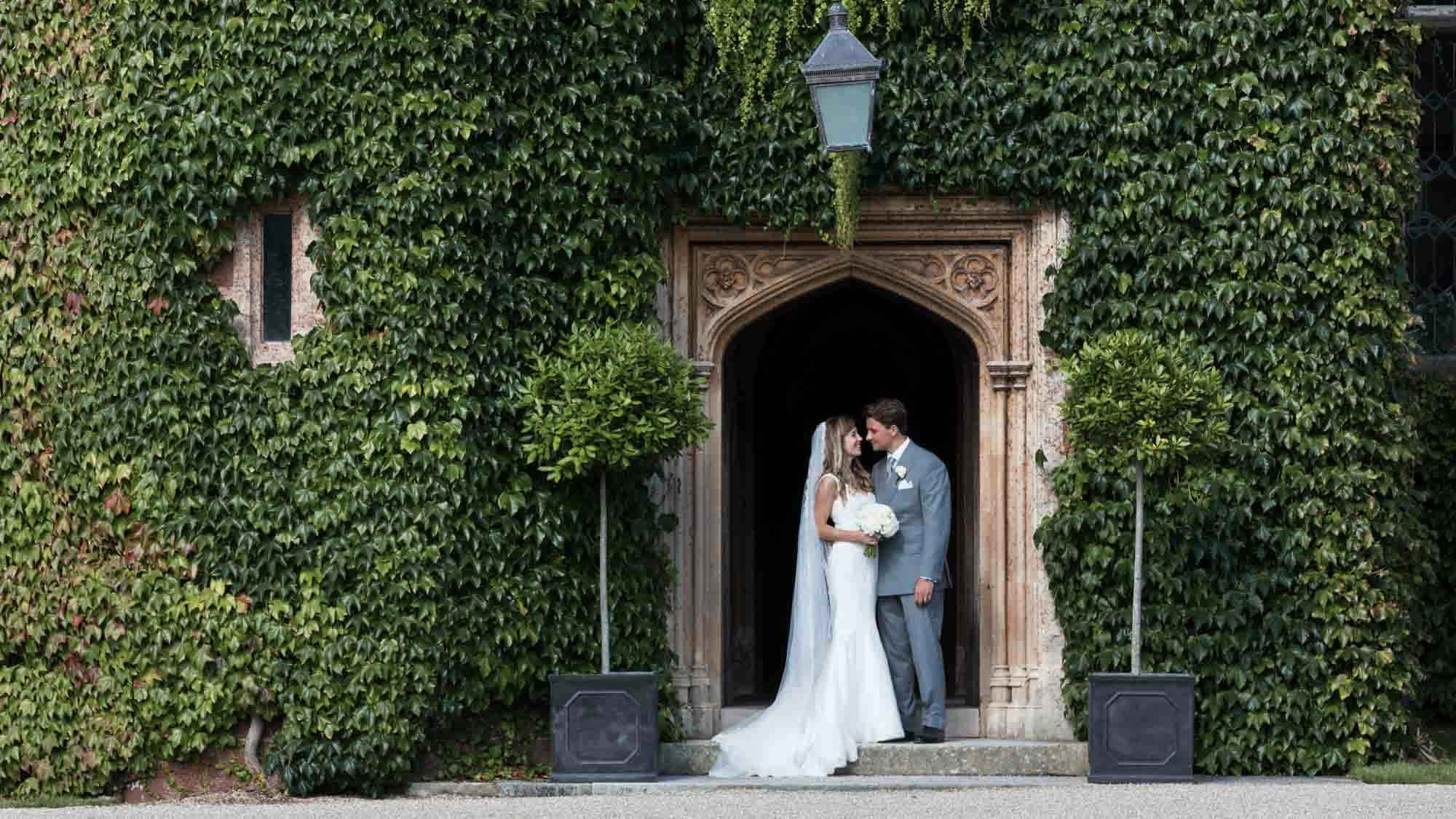 Kiss in the doorway at St Audries Park