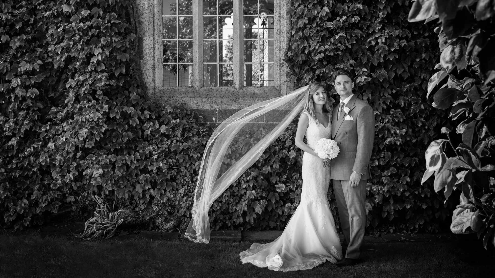 Bride and groom at their Somerset wedding
