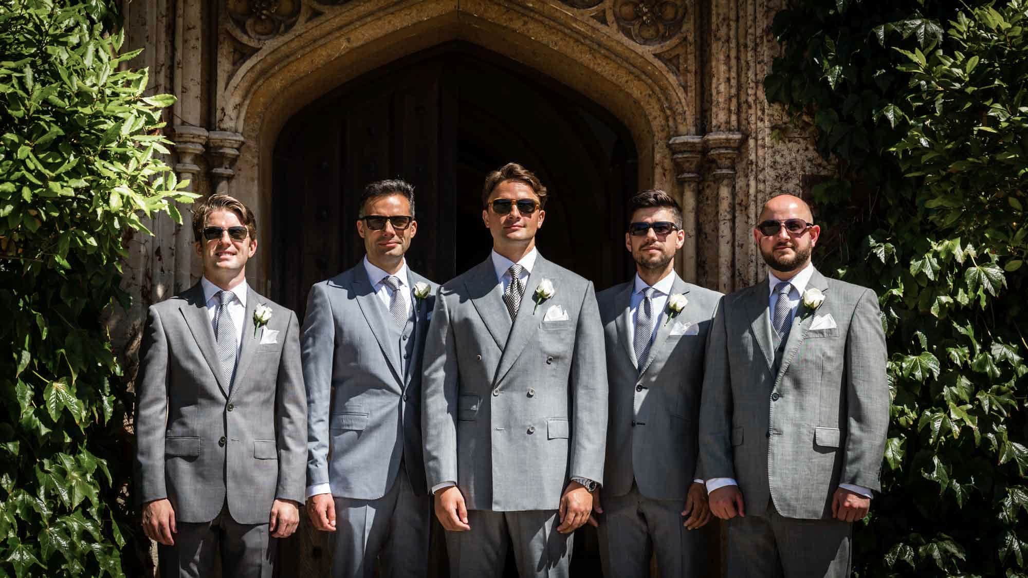 Oli and the groomsmen at St Audries Park
