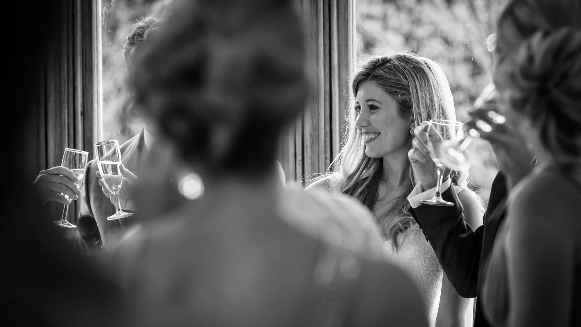 A toast to the bride at a Somerset wedding