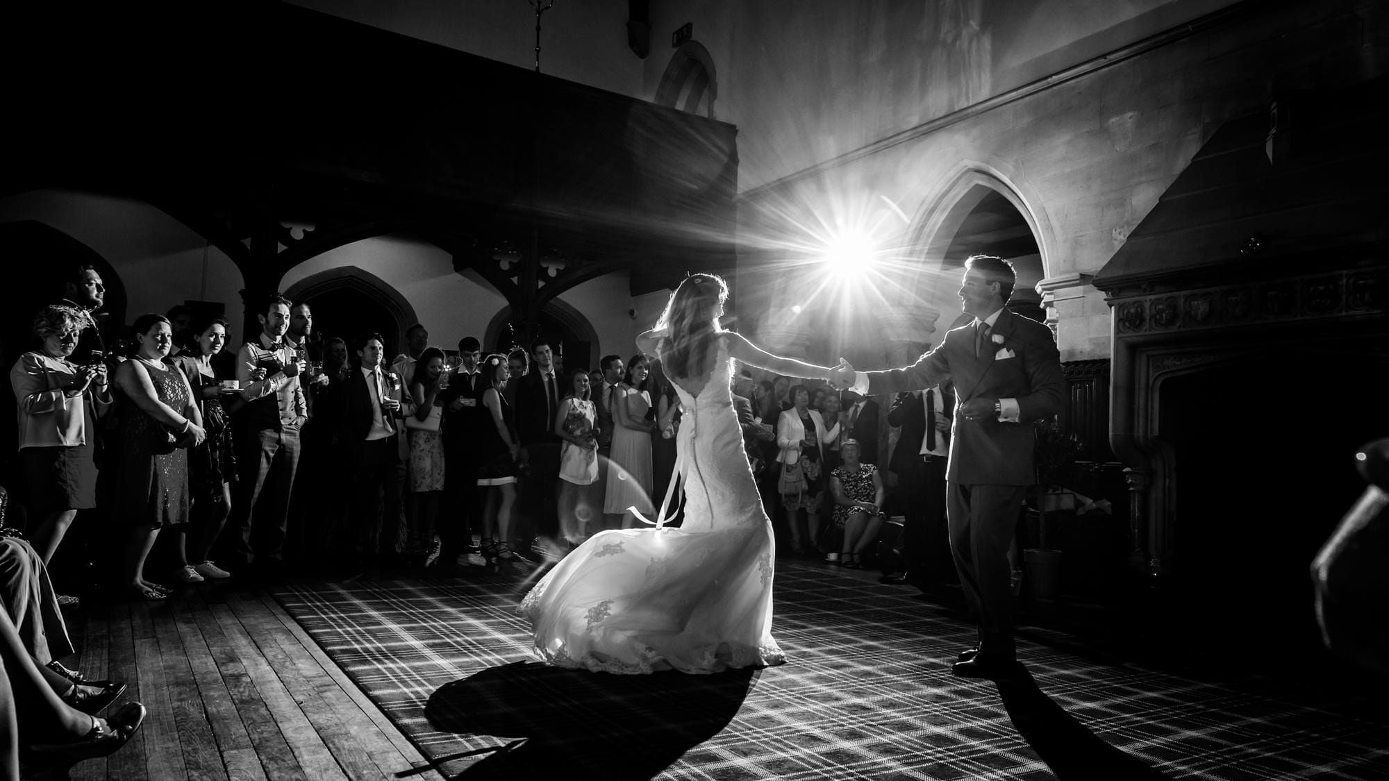 First dance at a St Audries wedding