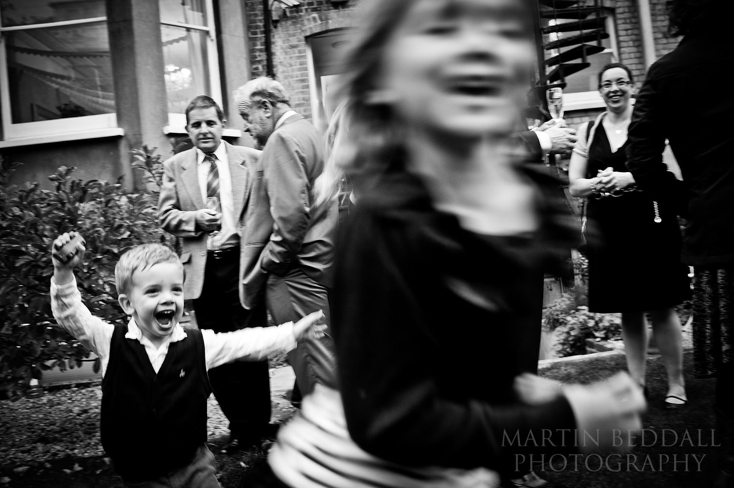 Kids playing at Hove wedding reception