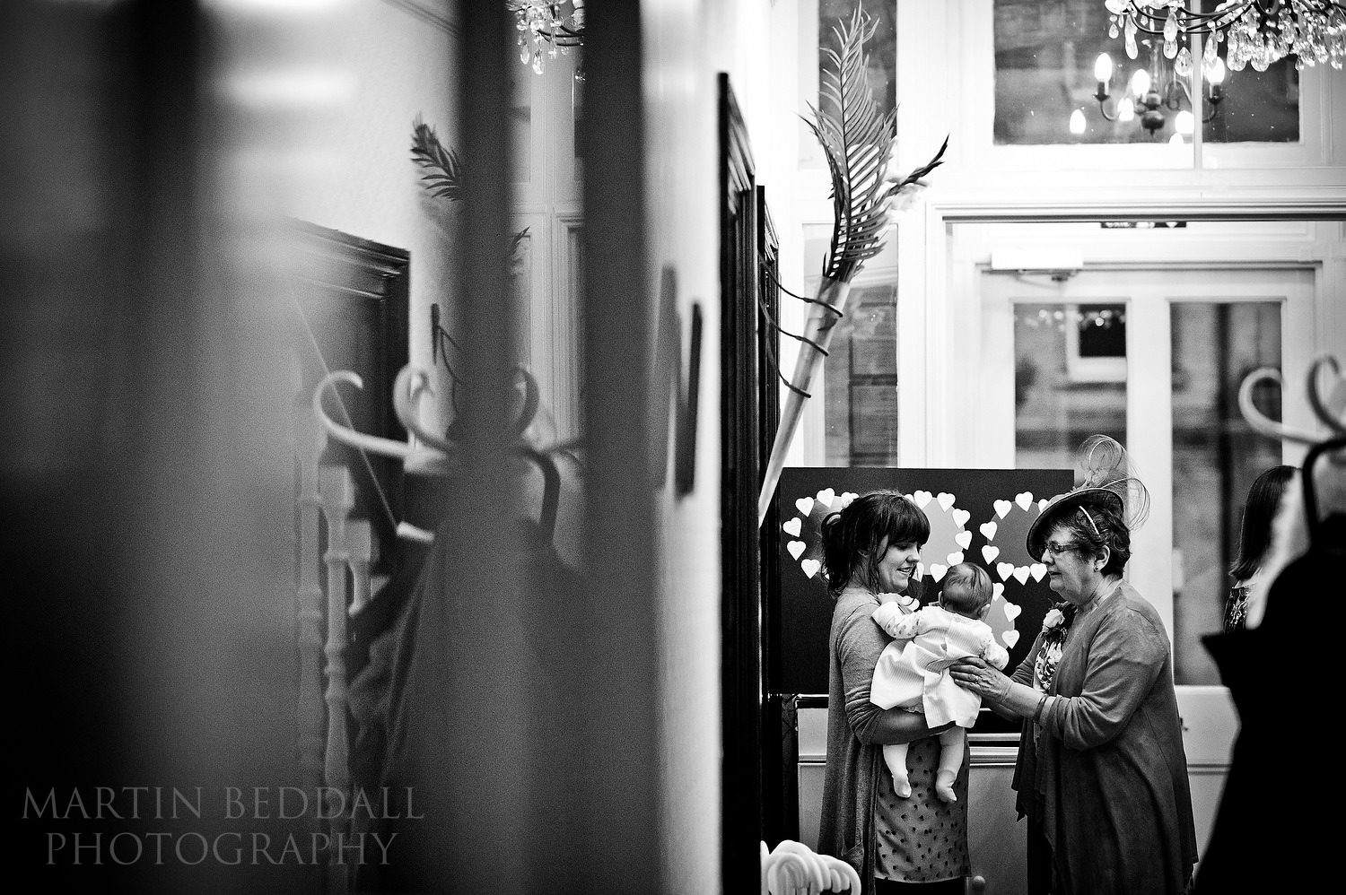 Winter wedding reception at the Claremont hotel