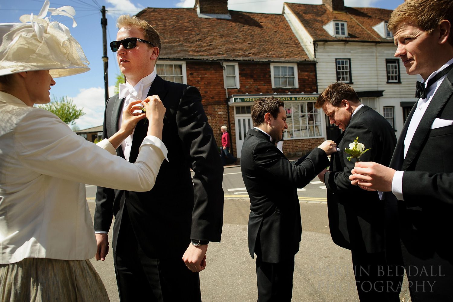 Buttonholes on in the village of Rotherfield