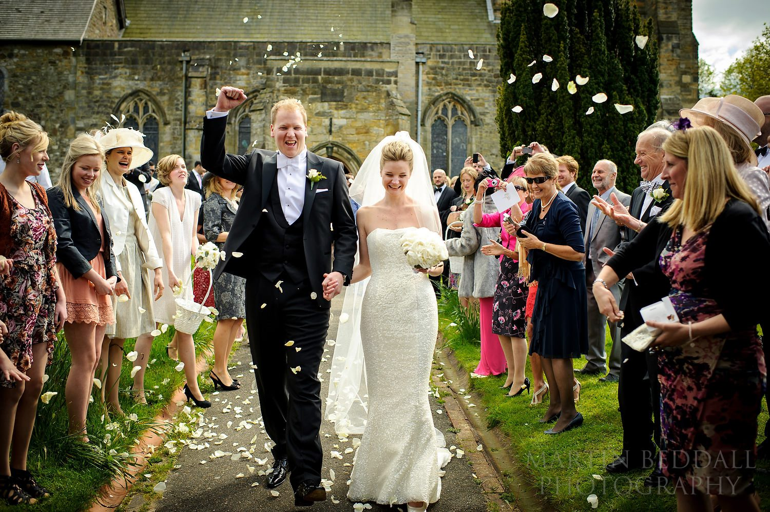 Confetti at St Denys church in Rotherfield