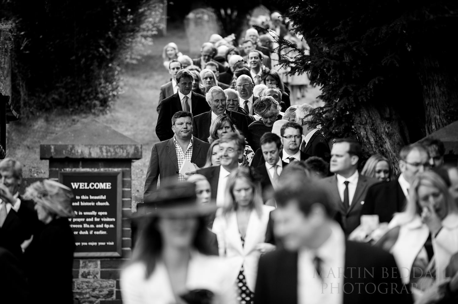 Wedding guests leave Compton church