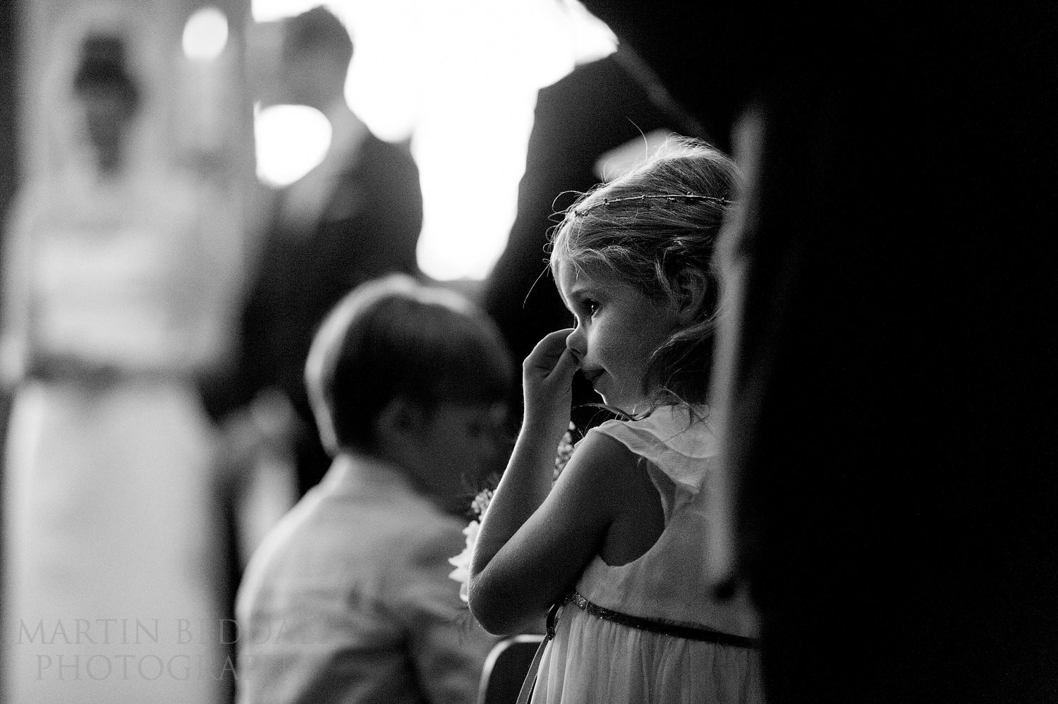 Nose picking during the ceremony