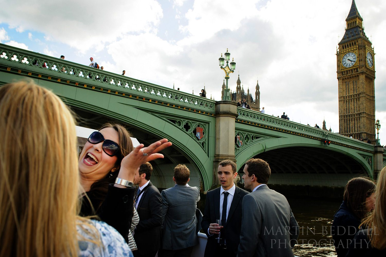 Wedding reception on the river Thames