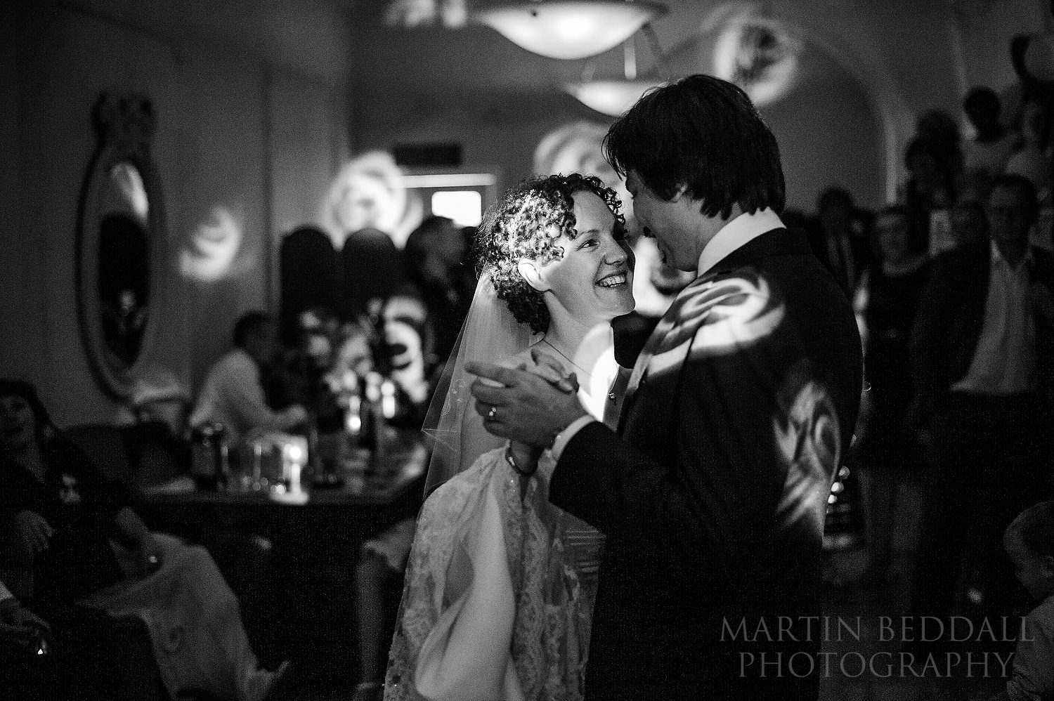 First dance in Belle House restaurant in Pershore