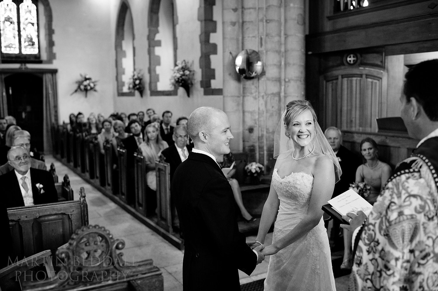 Wedding ceremony at Ditchling church
