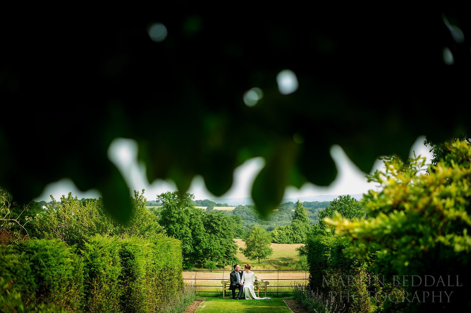 Bride and groom at Wadhurst Castle