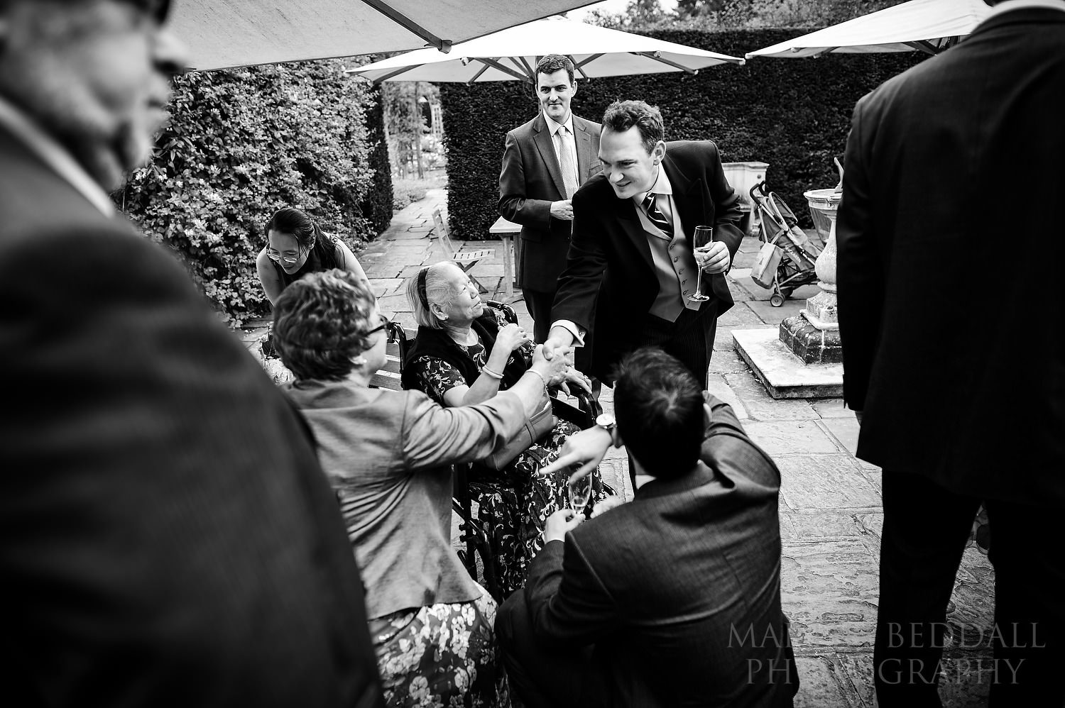 Great Fosters wedding reception reportage