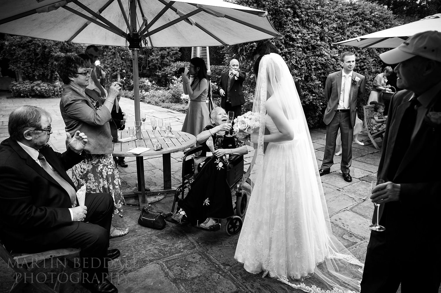 Great Fosters wedding reception reportage photography