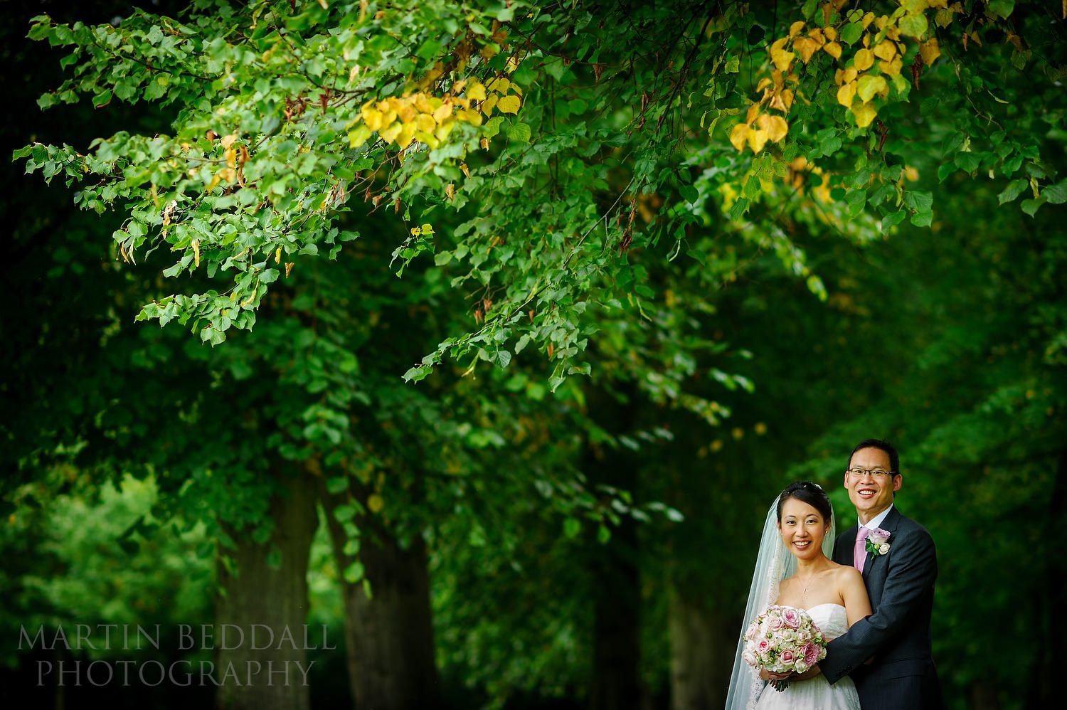 Bride and groom portrait at Great Fosters