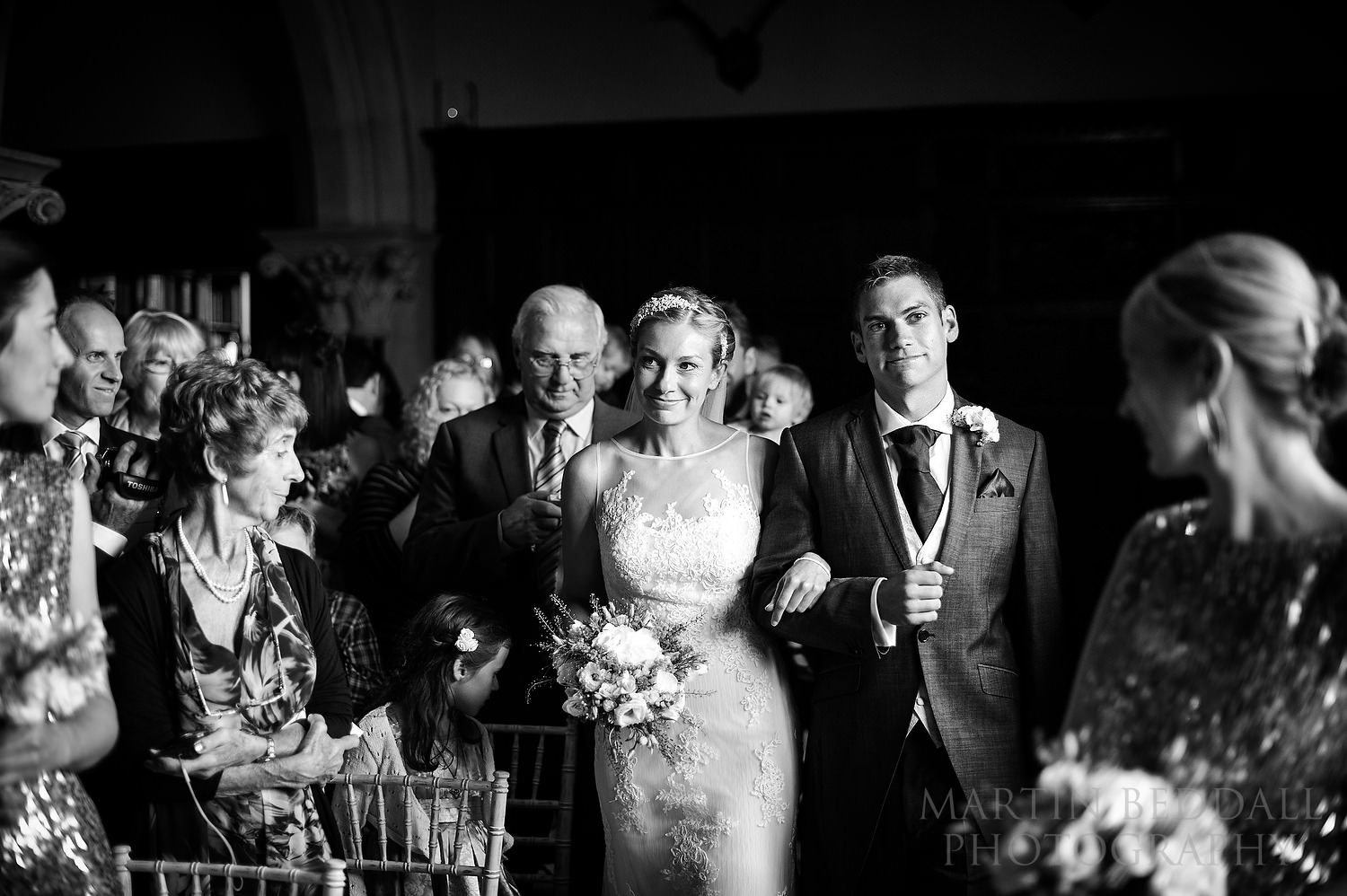 Bride walks down the aisle with her brother
