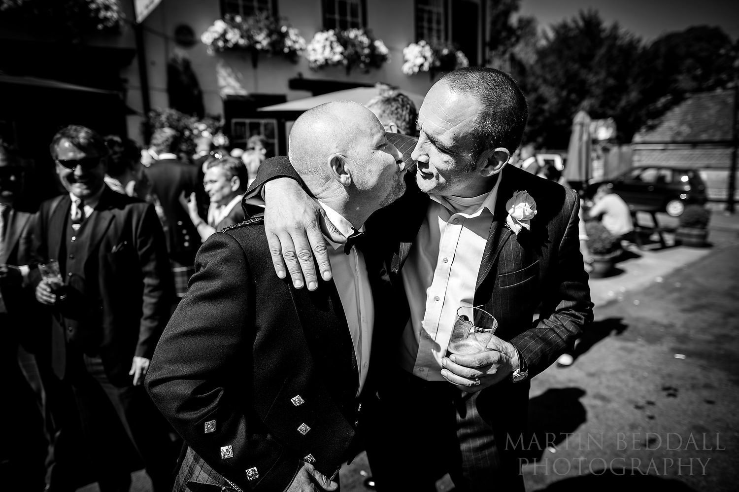 Groom and a friend