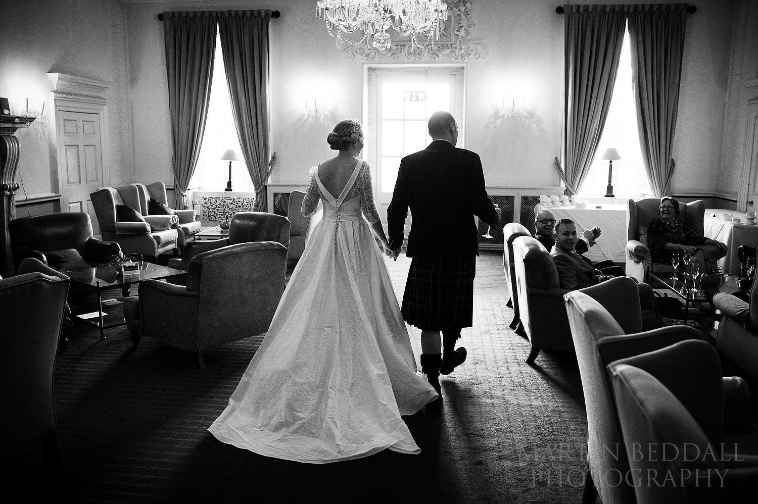Bride and groom at Buxted Park