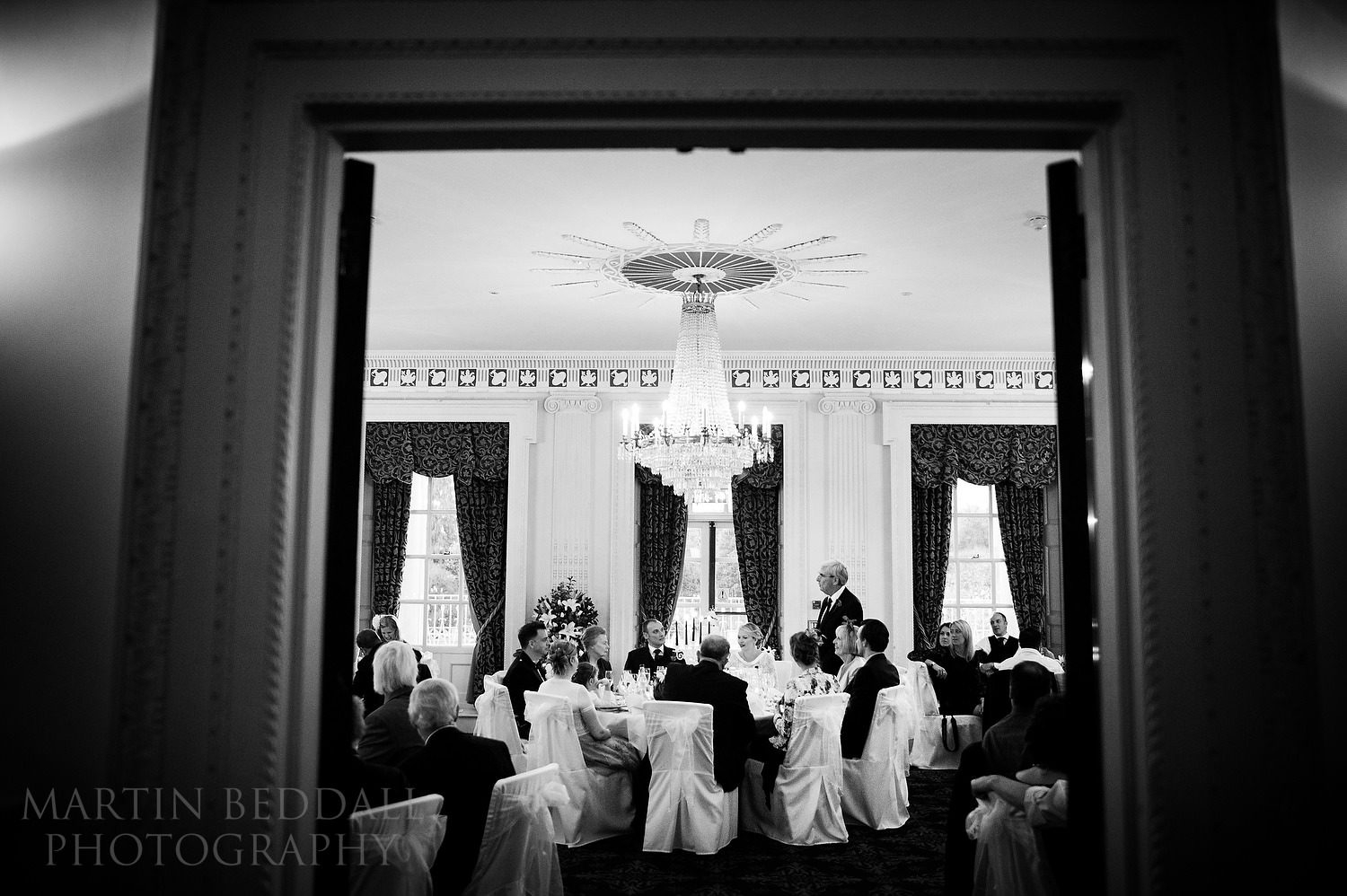 Buxted Park wedding meal