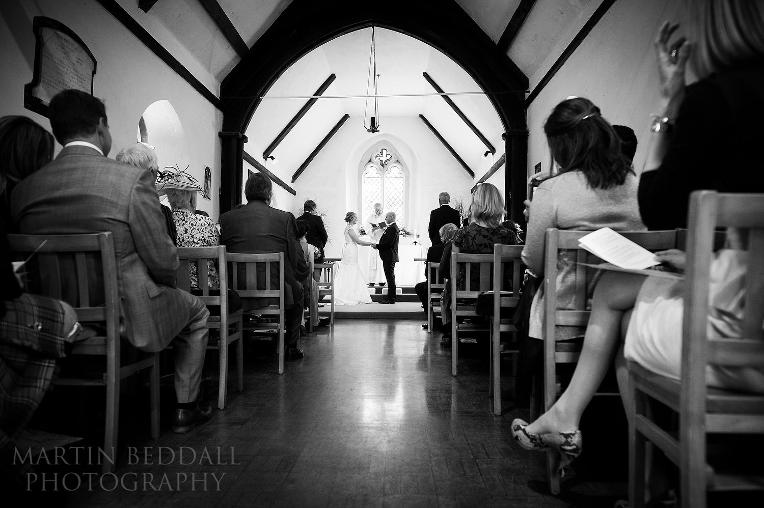 Wedding ceremony at Earnley church in Sussex
