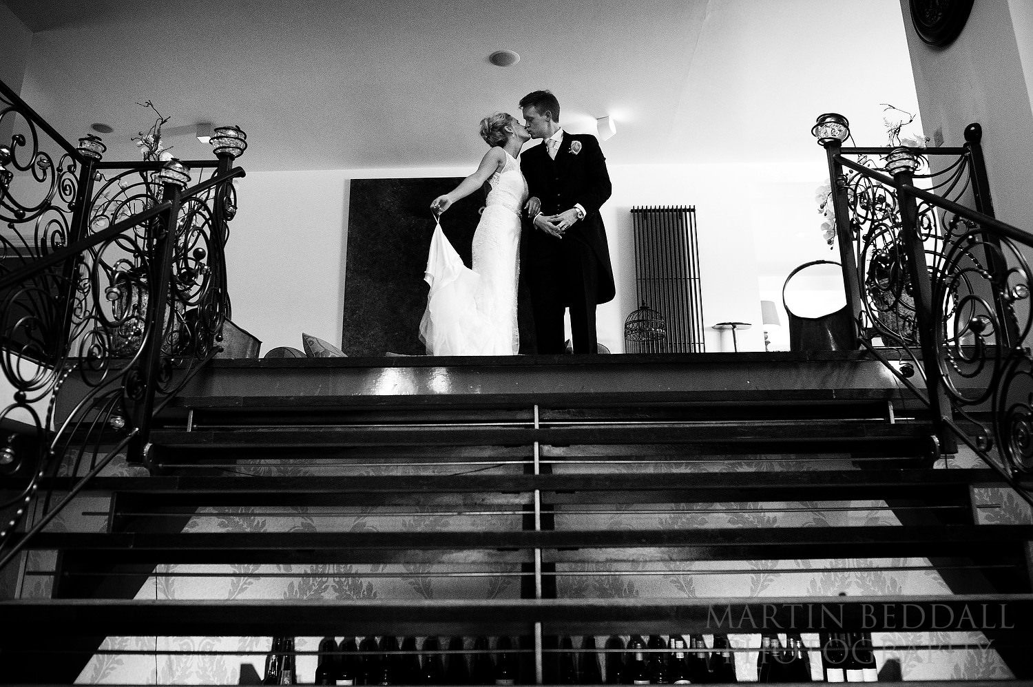 Couple at Russets wedding reception