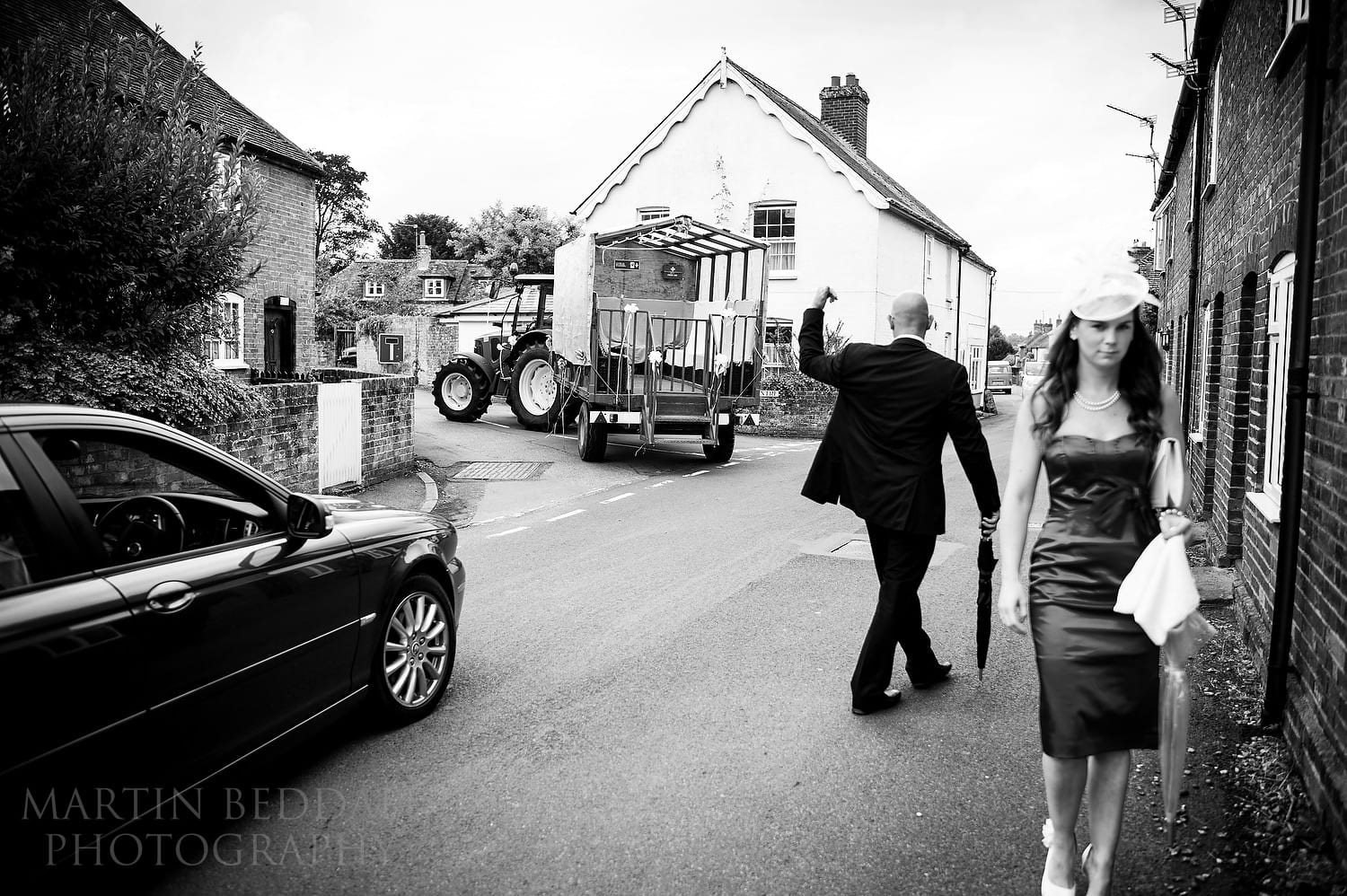 Wedding transport - tractor and trailer
