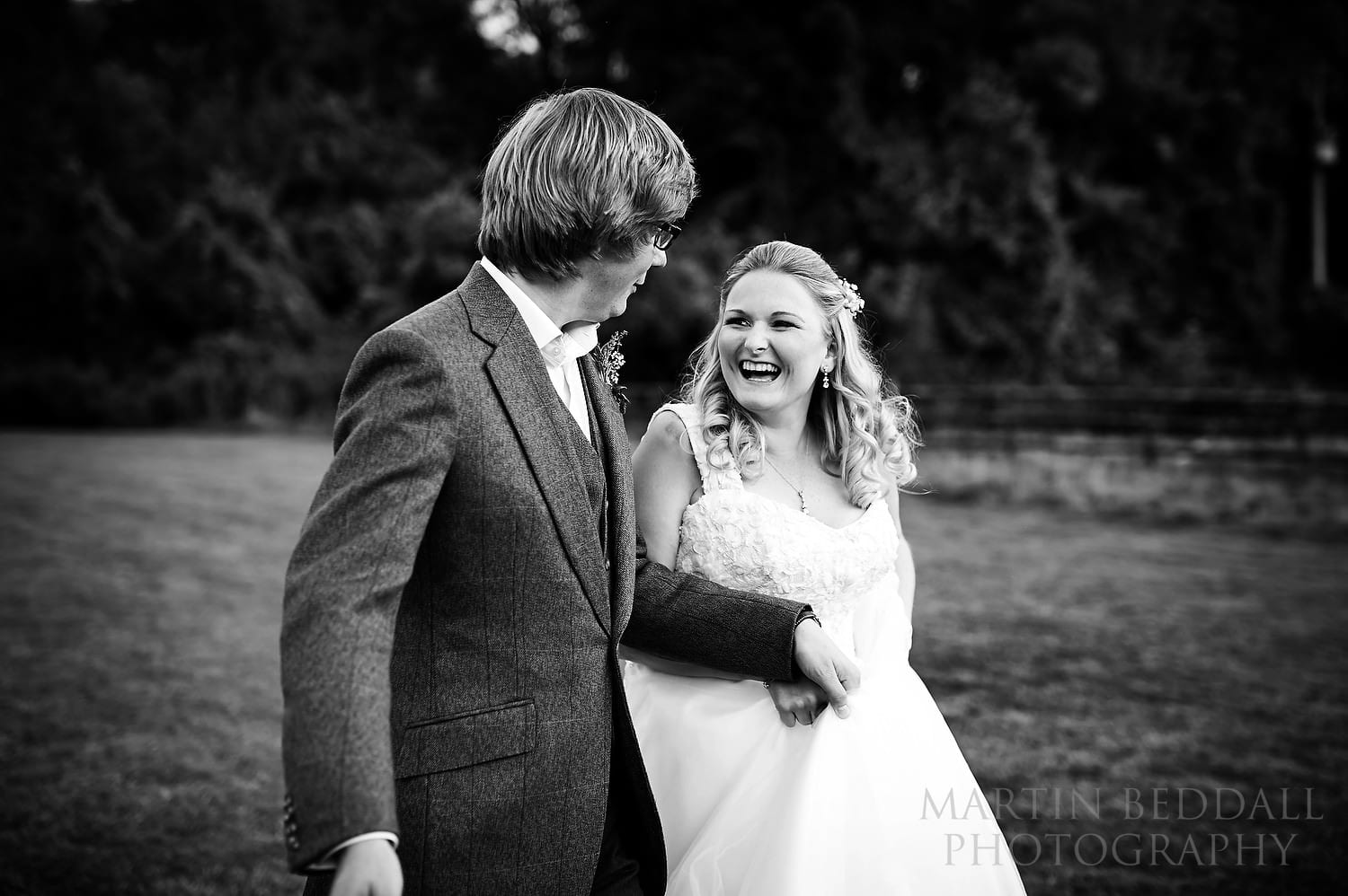 Natural portrait of the bride and groom at Lost Village of Dode wedding
