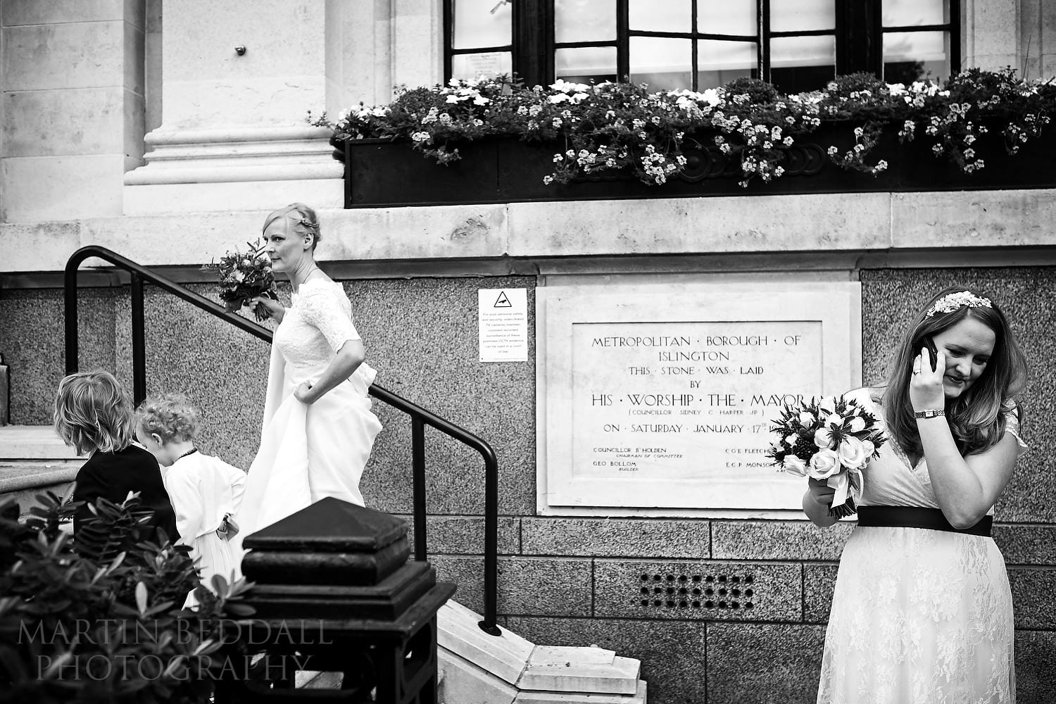 Next bride heads into Islington Town Hall