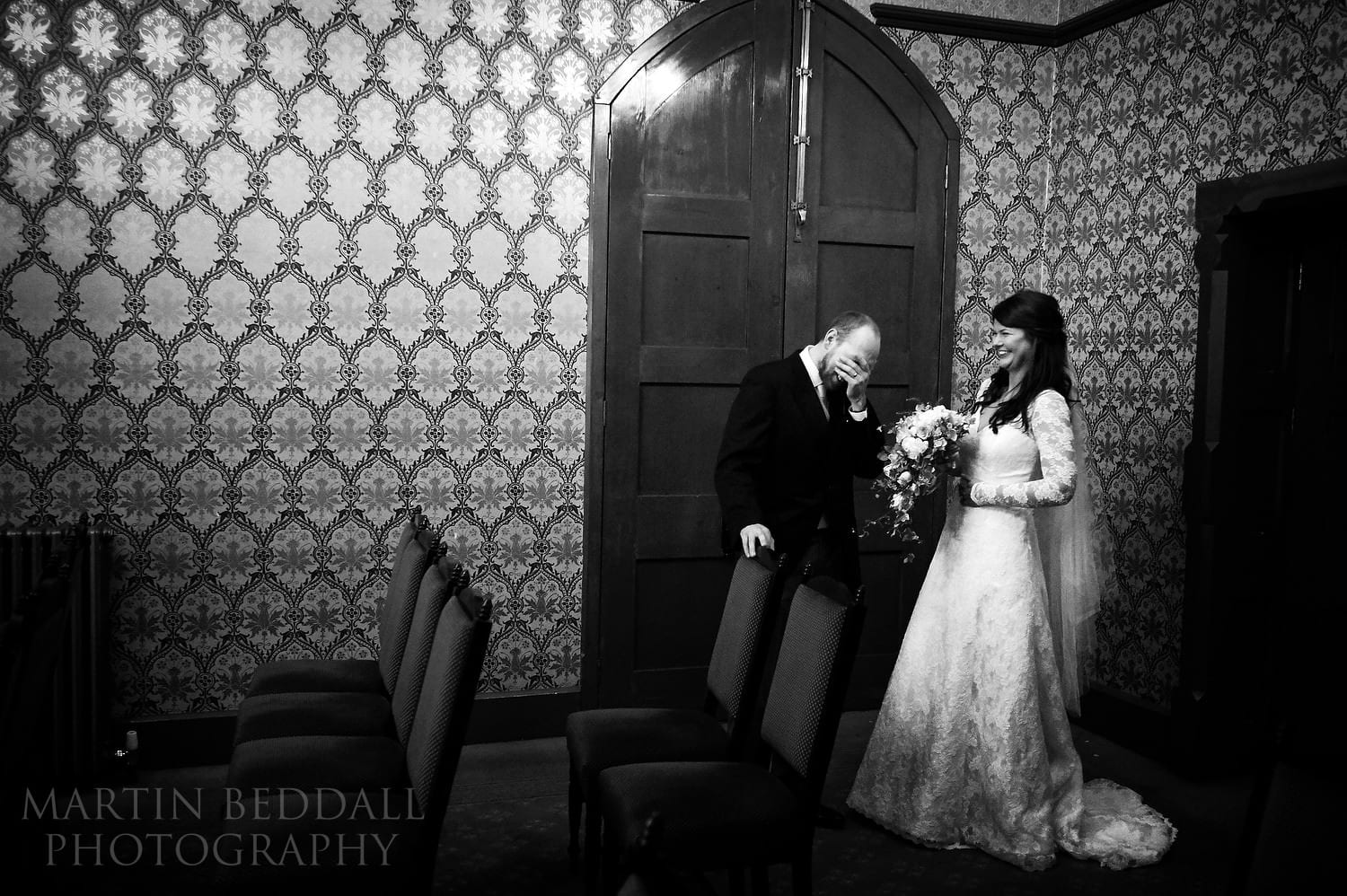 After the wedding ceremony at Northampton Guildhall