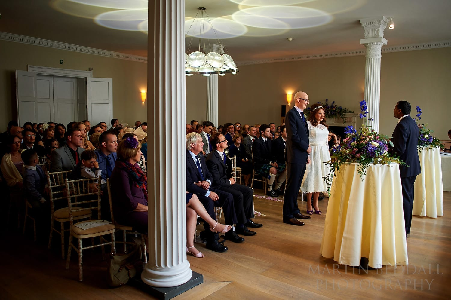 Wedding ceremony in the Benjamin Franklin room at the Royal Society of Arts in London