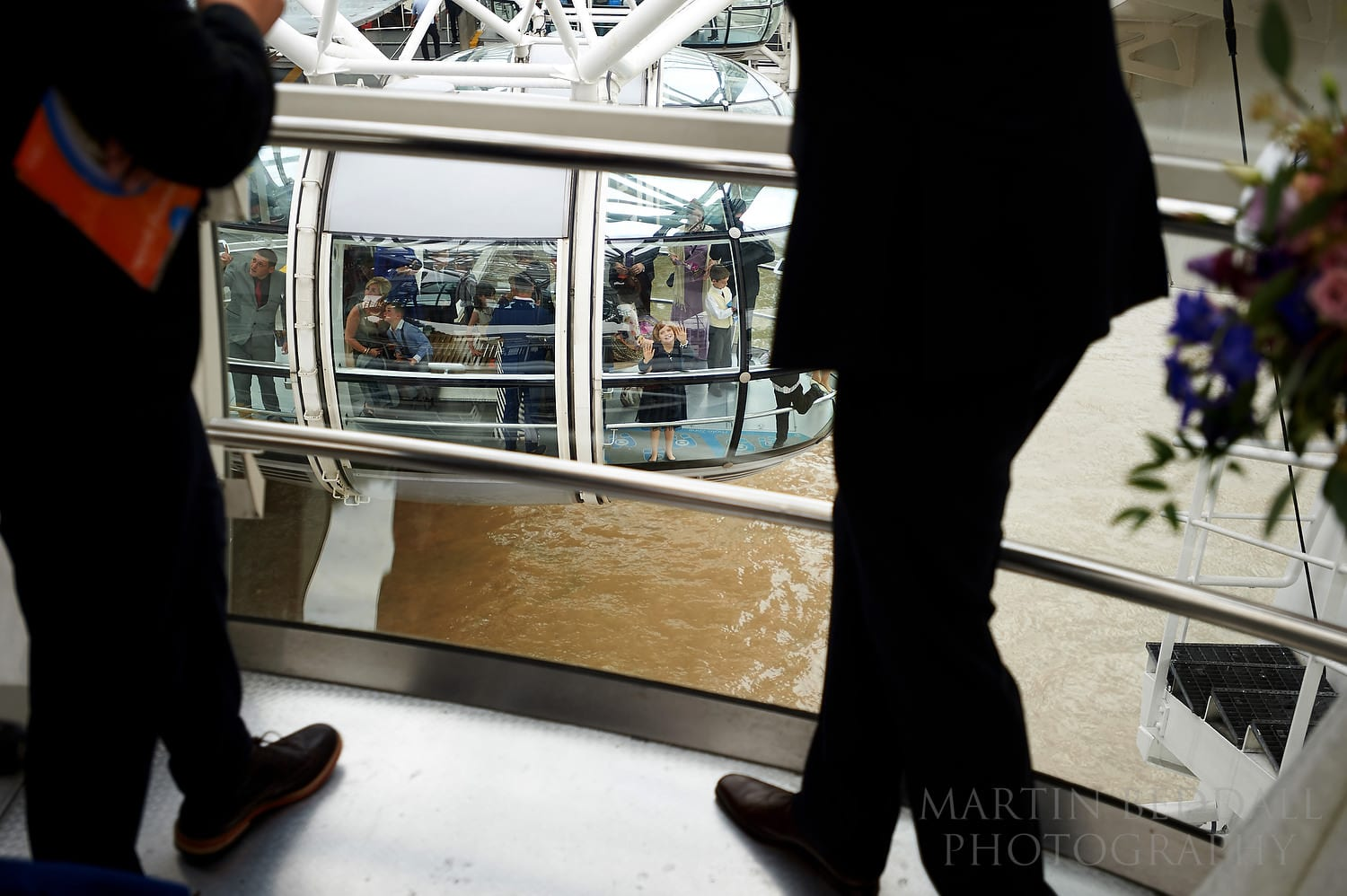 Guests on a London Eye wedding