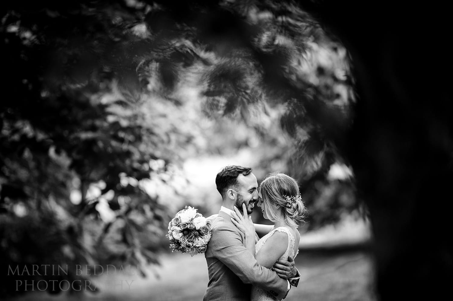 Couple portrait at Dewsall Court