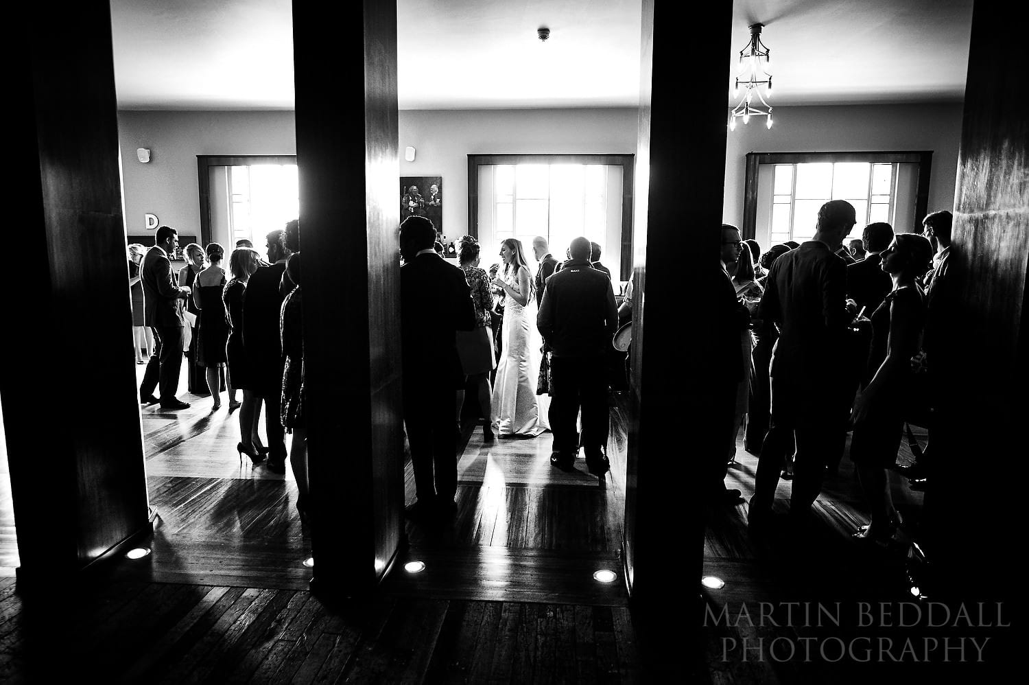 Wedding drinks reception at the theatre
