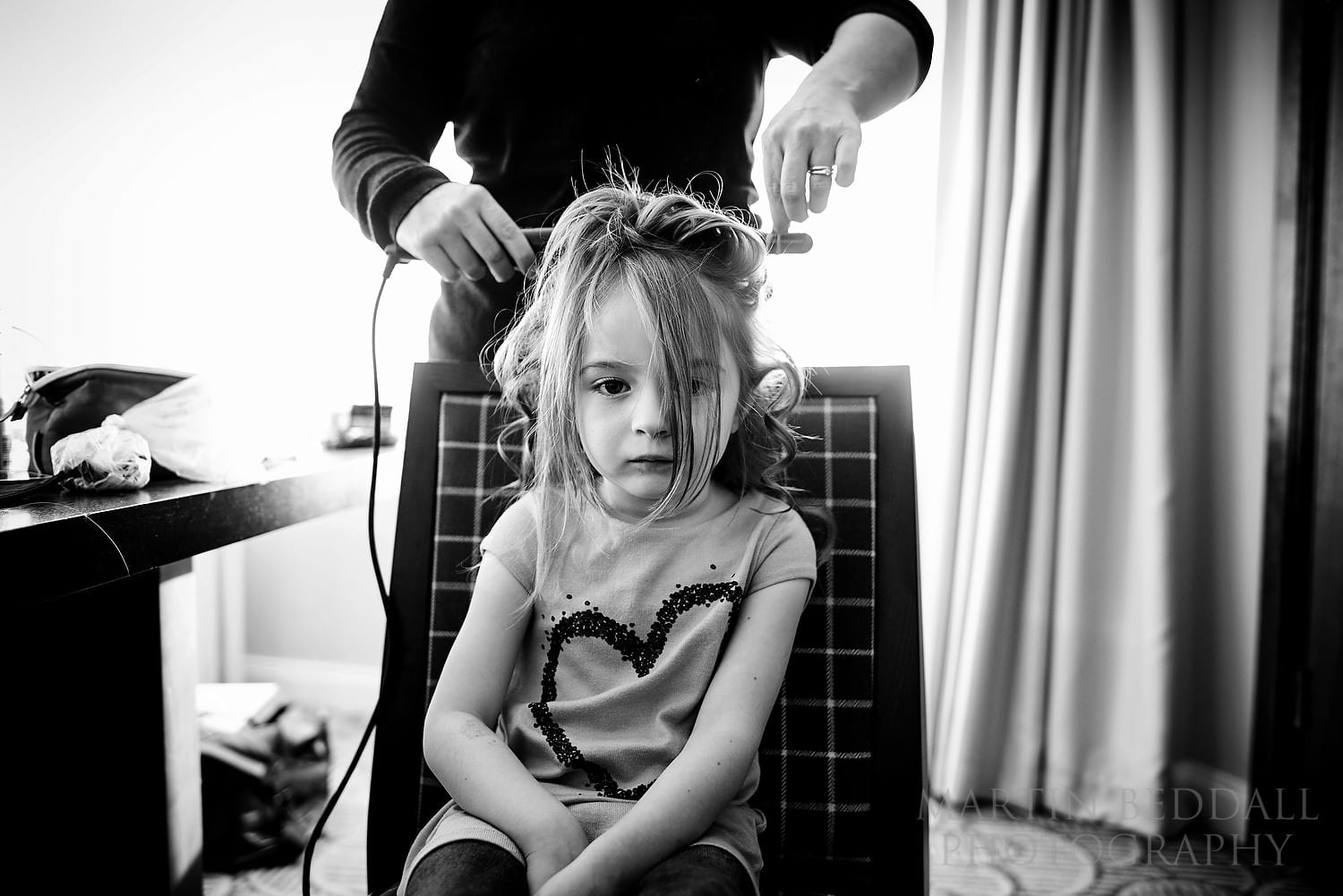 Flower girl hairstyling